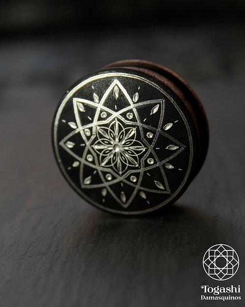 Damascene handmade plugs with silver / Shine Star.