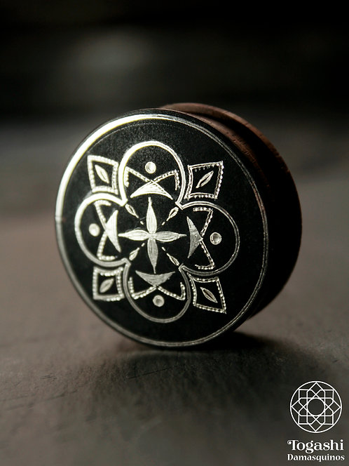 Damascene handmade plugs with silver / Four agreements