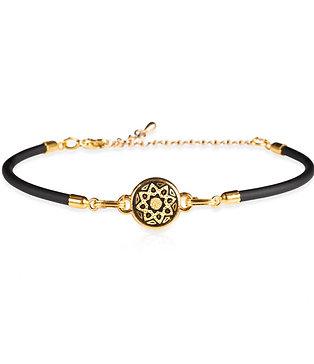 Damascene handmade bracelet made with 24 kt. pure gold / star