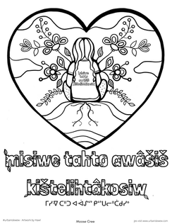 Every Child Matters 2020 Moose Cree  *Free to use coloring page