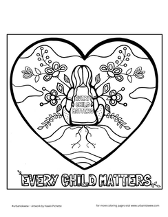 Every Child Matters 2020 English  *Free to use as a colouring page