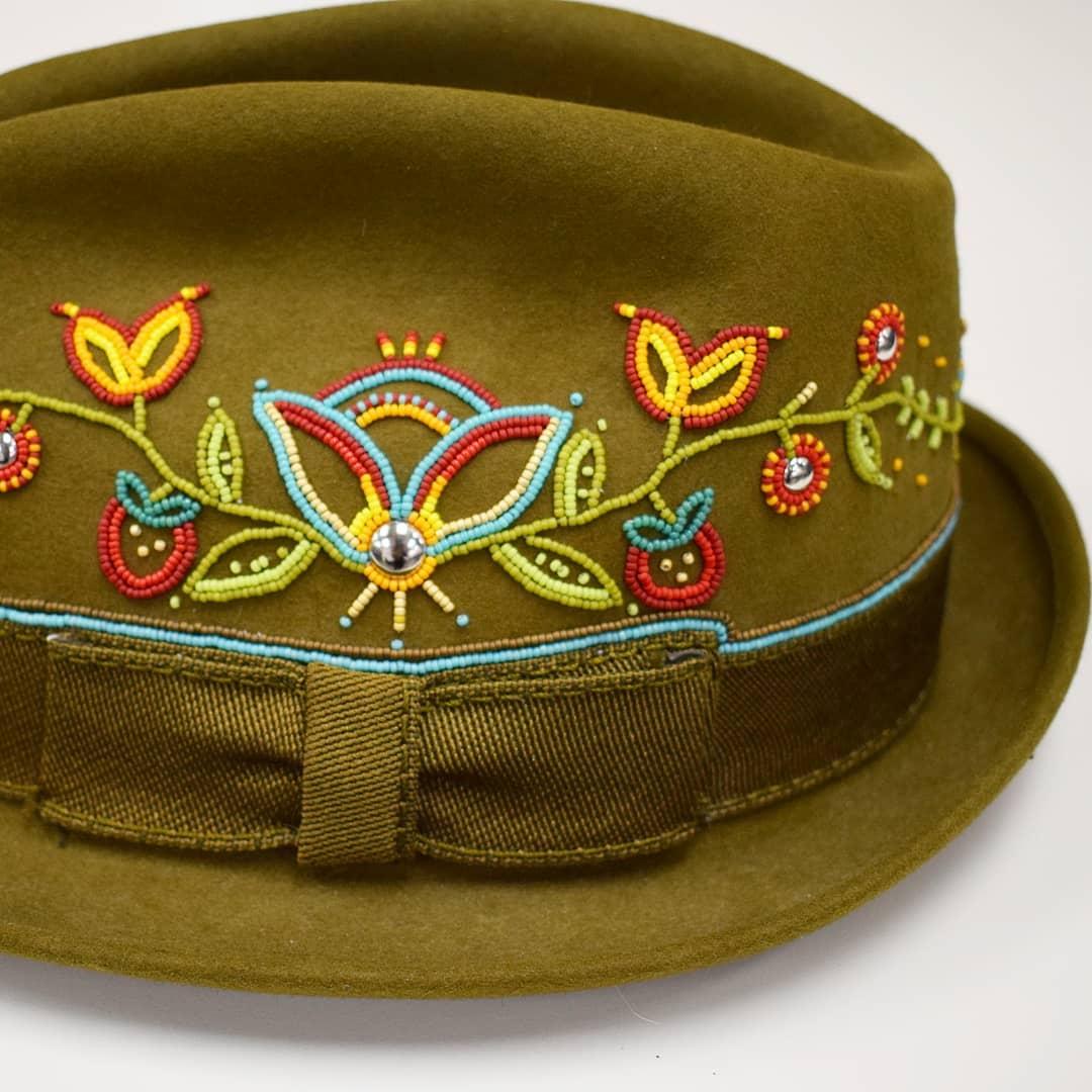 Beaded hat