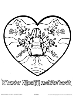 Every Child Matters 2020 Mi'kmaq  *Free to use as a coloring page.