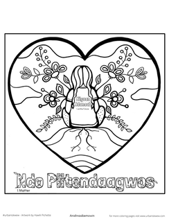 Every Child Matters 2020 Anishnaabemowin   *free to use as a colouring page