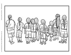 Indigenous Youth  *Free to use as a colouring page.