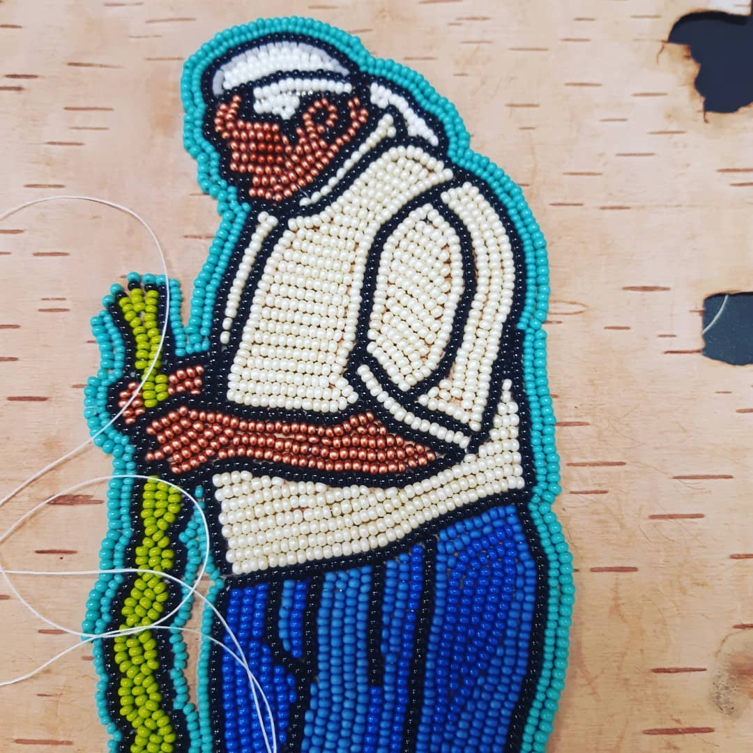 Knowledge Keepers beadwork series - Cecil Isaac