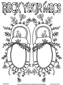 Rock Your Mocs 2021  *Free to use as a colouring page.