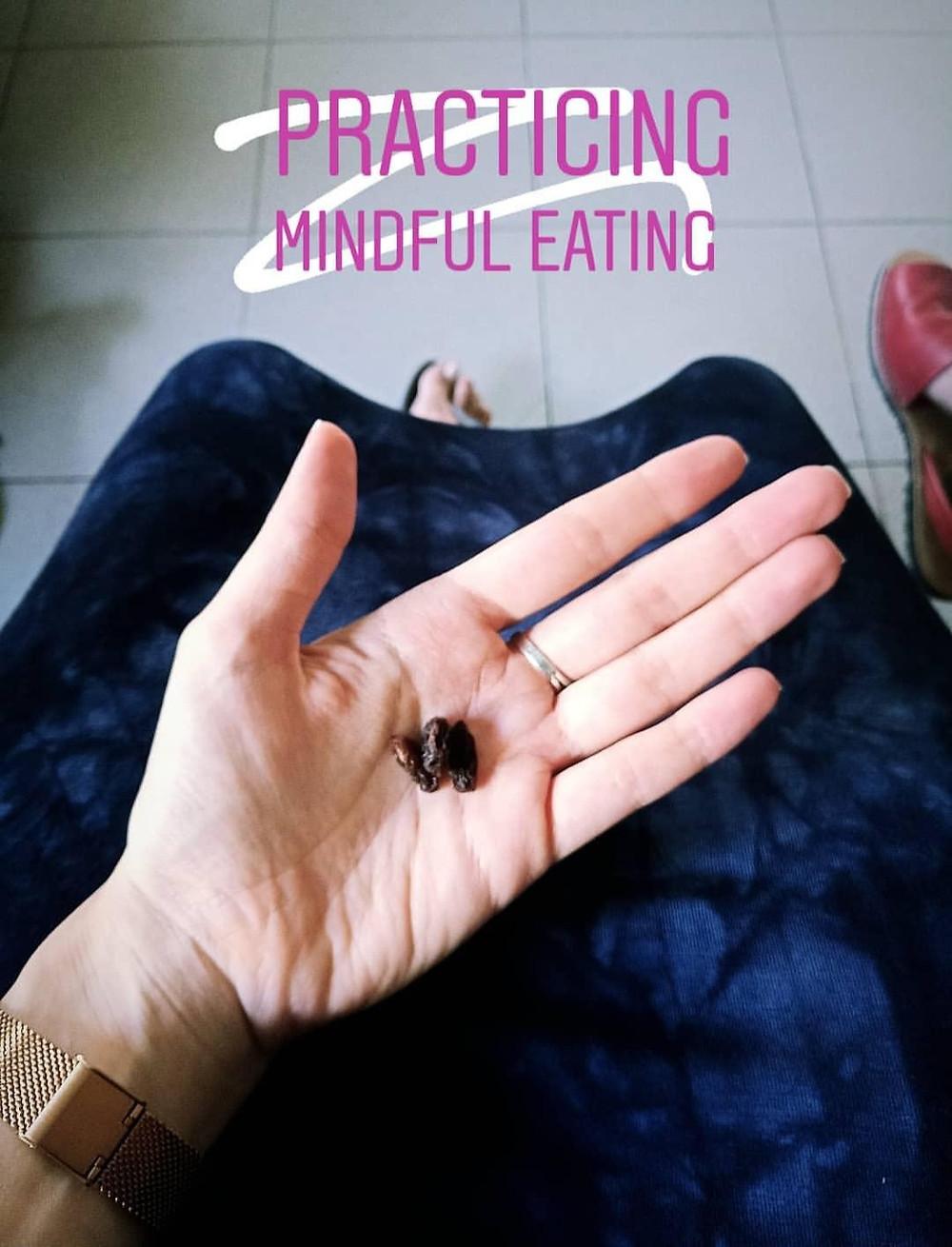 תרגול אכילה מודעת