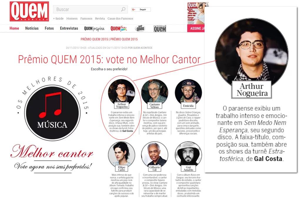 Prêmio Quem - Melhores de 2015