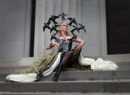 Most metal fashion ever...Literally...Check out the wearable art fashion by artist Shelley Smith!