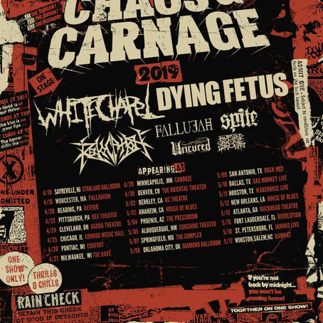 Chaos & Carnage Tour Starts Next Month: Revocation release new Music Video
