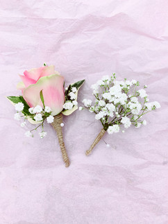 Rose, ivy and gyp grooms buttonhole (fully wired)..