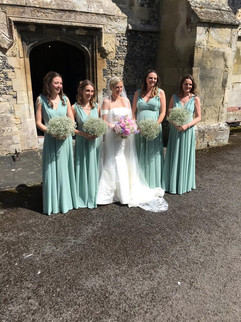 Bridesmaids and Bridal Bouquets