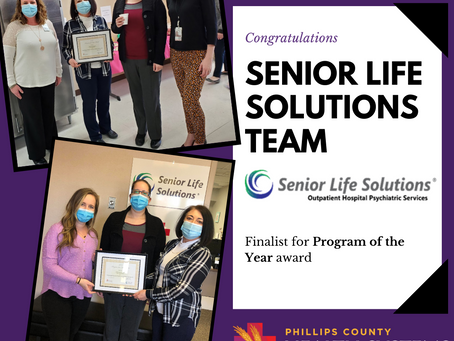 "PCHS' Senior Life Solutions Recognized as Finalist for ""Program of the Year"" Award"