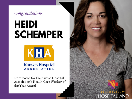 HEIDI SCHEMPER NOMINATED FOR HEALTHCARE WORKER OF THE YEAR