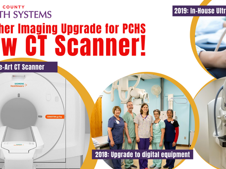 New CT Scanner - Another Imaging Upgrade at PCHS