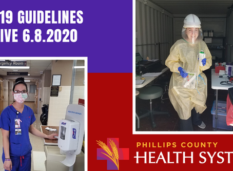 COVID-19 Guidelines Effective June 8, 2020