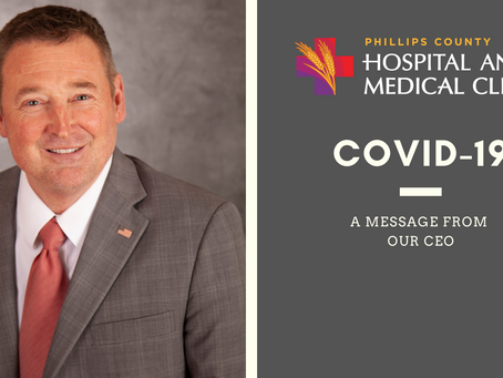 A MESSAGE FROM OUR CEO REGARDING COVID-19: