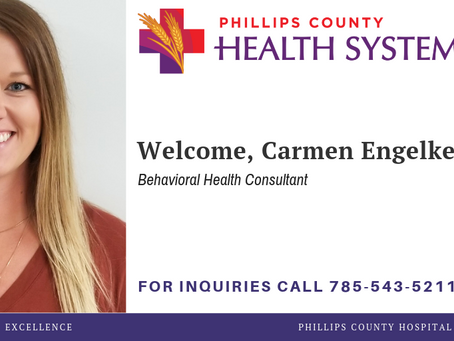 PCHS ADDS BEHAVIORAL HEALTH CONSULTANT, CARMEN ENGELKE
