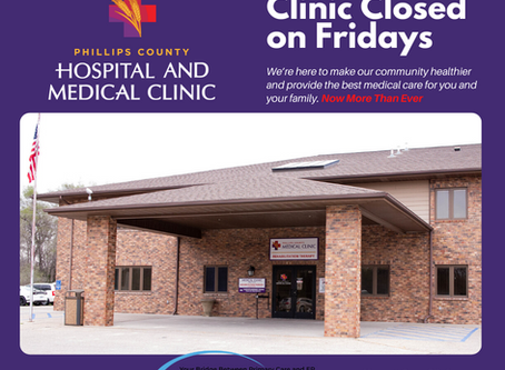 CLINIC CLOSED ON FRIDAYS IN APRIL