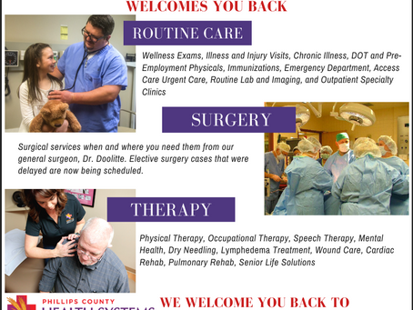 We are ready to care for you – SAFELY