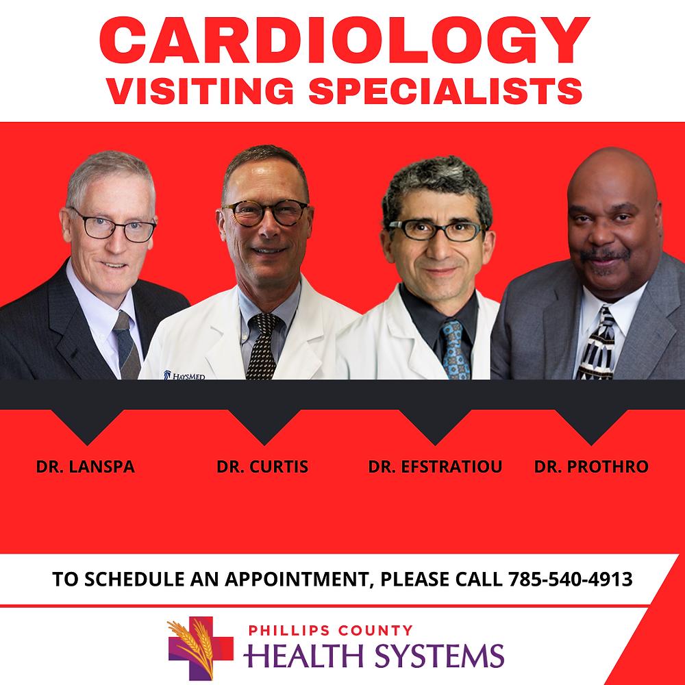 Cardiologist providing cardiology services in Phillipsburg, Kansas