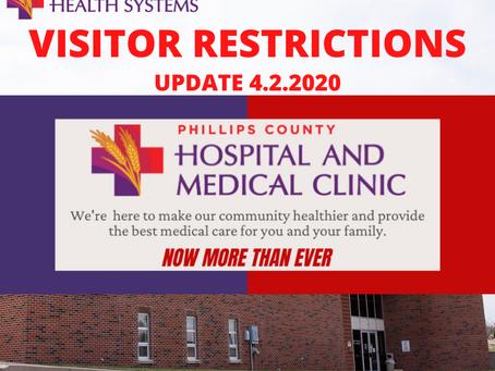 NO HOSPITAL VISITORS