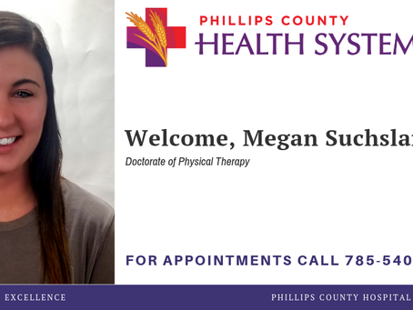 PCHS WELCOMES MEGAN SUCHSLAND, PHYSICAL THERAPIST