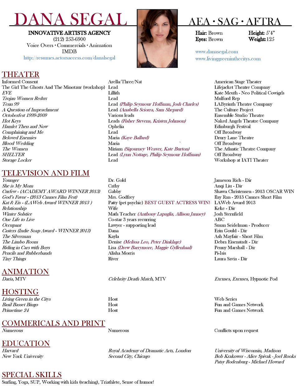 Dana Segal resume