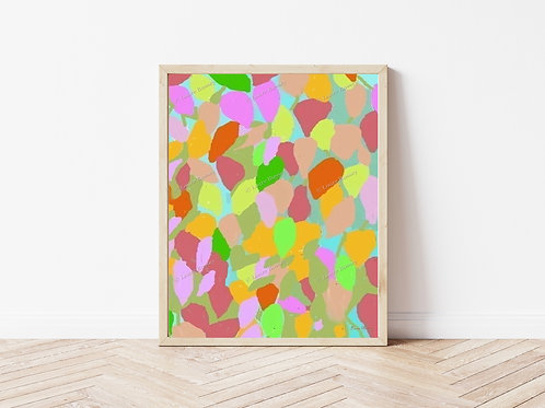Candy Colors Art Print, Abstract Art, Colorful Artwork, Instant Download Art
