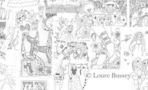 Pretty Fashions - Several Coloring Pages