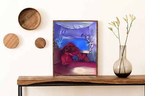 Loving Art Print, Romantic Art, Romance Artwork, Home Decor, Romantic Art Print