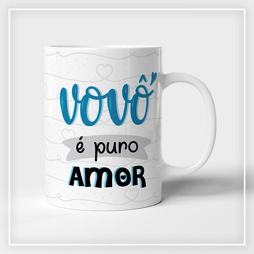 Caneca De Porcelana Vovô é Puro Amor