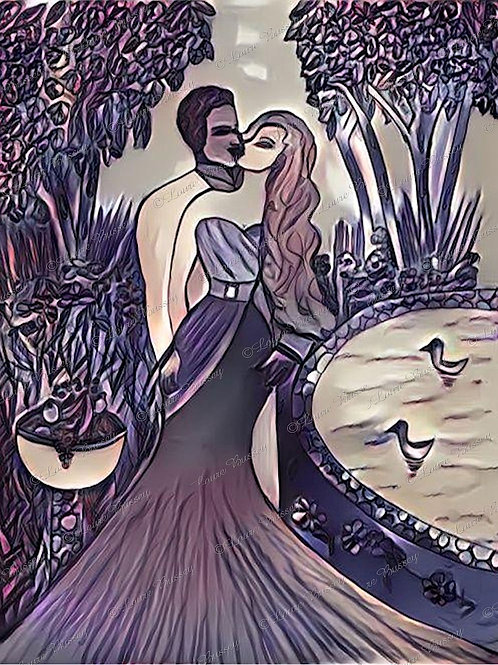 Romance Stock Illustration, Gothic Romance Illustration, Gothic Clip Art