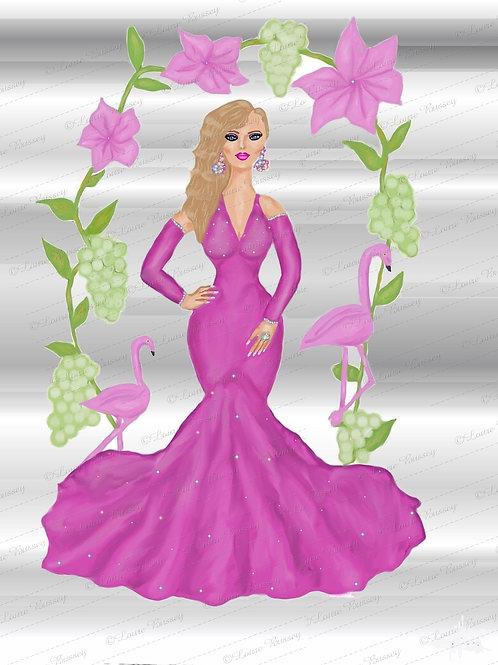 Fashion Girl Clip Art, Stock Illustration, Beauty Illustration, Sexy Woman Art