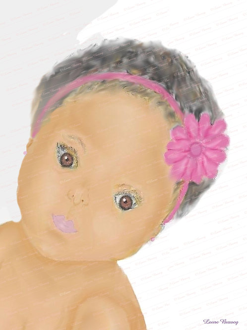 Baby's Face Stock Illustration, Stock Image, Clip Art, Infant Stock Illustration