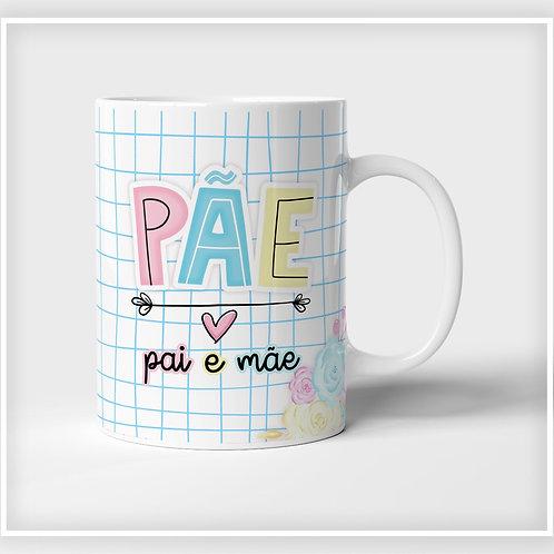 Caneca De Porcelana Pai e Mãe