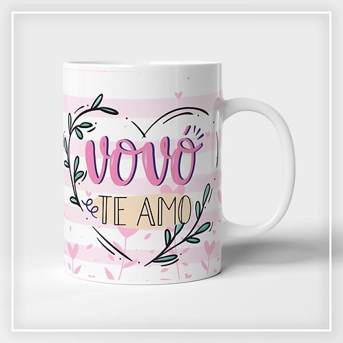 Caneca De Porcelana Vovó Te Amo
