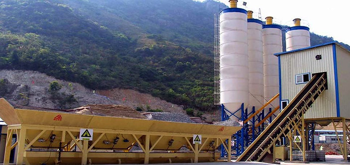 XDEGROUP HZS50 Fixed Concrete Mixing Plant For Sale