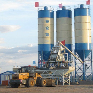 HZS60 Stationary Concrete Mixing Plant with Capacity 60t/h