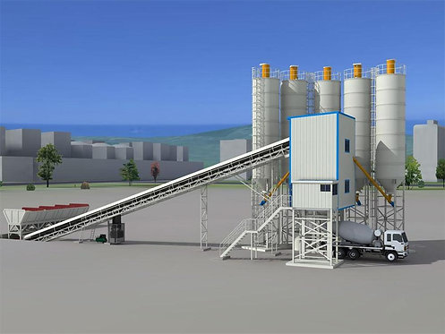 XDEGROUP Small Capacity 25t/h HZS25 Mini Concrete Batching Mixing Plant