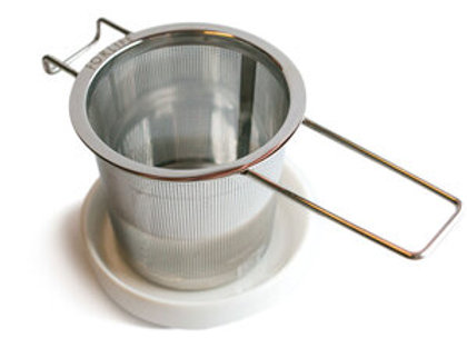 WS ForLife Brewing Basket with Porcelain Dish