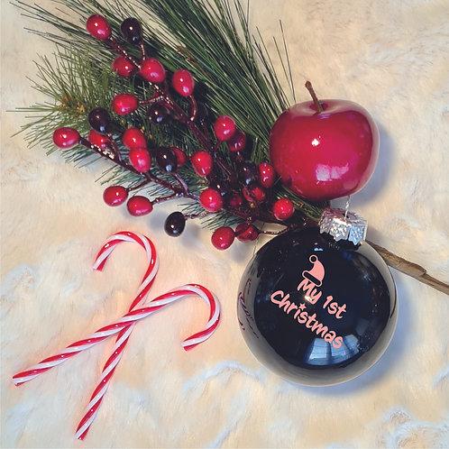 Kerstbal | Zwart | Glanzend | Klein
