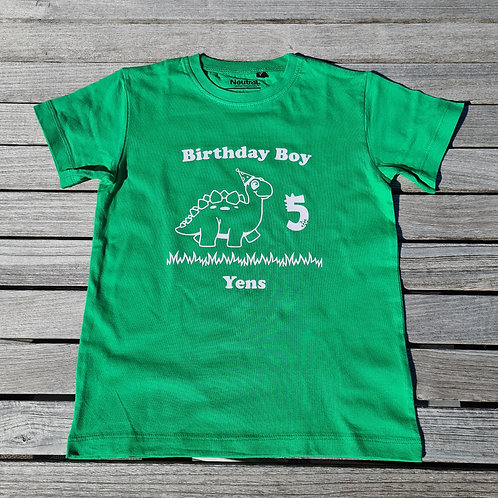 Birthday Kids T-Shirt - Uni Color Print