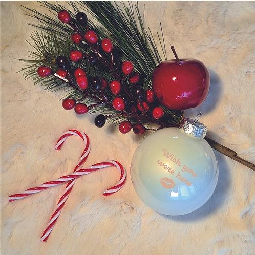 Kerstbal | Parelmoer | Glanzend | Klein