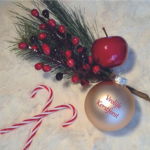 Kerstbal | Rosé Goud | Mat | Groot