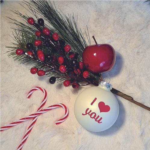 Kerstbal | Melkwit | Mat | Klein