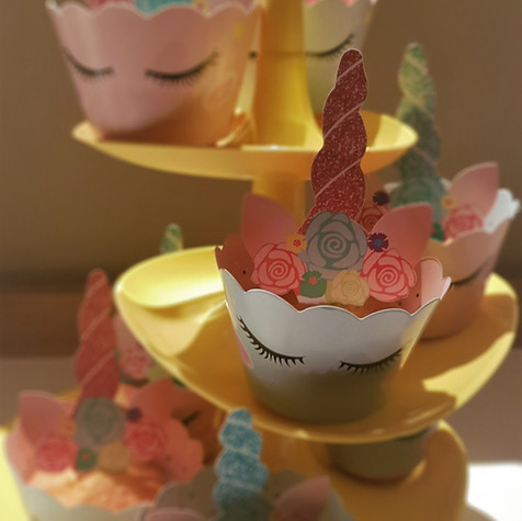 Unicorn cupcakes als ontbijt!
