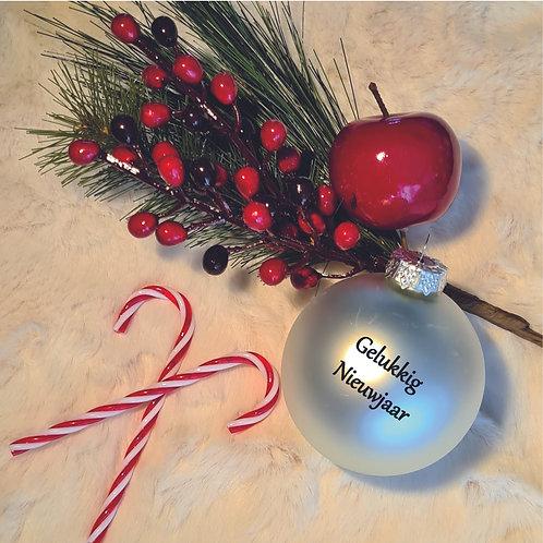 Kerstbal   Parelmoer   Mat   Groot