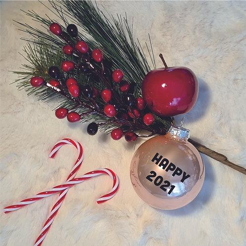 Kerstbal | Rosé Goud | Glanzend | Groot